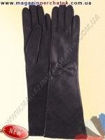 Модель № 500 - Перчатки женские длинные из натуральной кожи на шелковой подкладке. Длина 48 см. Кожа производства Италии