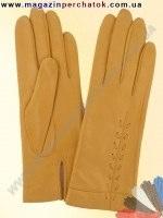 Модель № 104 Перчатки женские из натуральной кожи на шерстяной подкладке. Кожа производства Италии.
