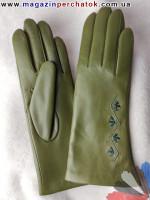 Модель № 094 Перчатки женские из натуральной кожи на шерстяной подкладке. Кожа производства Италии.