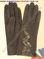 Модель № 228 Перчатки женские из натуральной кожи на шерстяной подкладке. Кожа производства Италии.