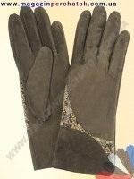 Модель № 055 Перчатки женские из натуральной кожи на шерстяной подкладке. Кожа производства Италии.
