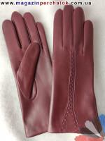 Модель № 220 Перчатки женские из натуральной кожи на шерстяной подкладке. Кожа производства Италии.