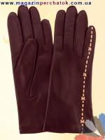 Модель № 190 Перчатки женские из натуральной кожи на шерстяной подкладке. Кожа производства Италии.