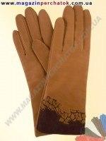 Модель № 176 Перчатки женские из натуральной кожи на шерстяной подкладке. Кожа производства Италии.