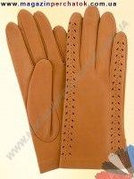 Модель № 019 Перчатки женские из натуральной кожи без подкладки. Кожа производства Италии.