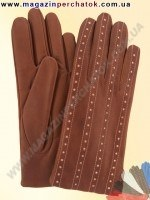 Модель № 290 Перчатки женские из натуральной кожи на шерстяной подкладке. Кожа производства Италии.