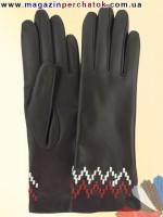 Модель № 233 Перчатки женские из натуральной кожи на шерстяной подкладке. Кожа производства Италии.
