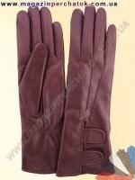 Модель № 305 Перчатки женские из натуральной кожи на шерстяной подкладке. Кожа производства Италии.