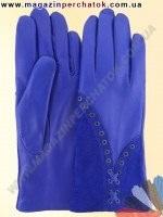 Модель № 328 Перчатки женские из натуральной кожи на шерстяной подкладке. Кожа производства Италии.