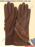 Модель № 308 Перчатки женские из натуральной кожи на шерстяной подкладке. Кожа производства Италии.