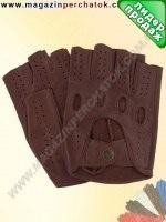 Модель № 245 Перчатки вело из натуральной кожи без подкладки. Кожа производства Италии.