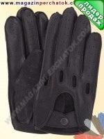 Модель № 275 Перчатки для водителей из натуральной кожи без подкладки. Кожа производства Италии.
