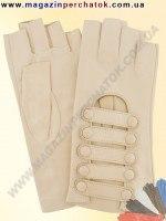 Модель № 323 Перчатки вело из натуральной кожи без подкладки. Кожа производства Италии.