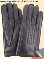 Модель № 271 Перчатки мужские из натуральной кожи на шерстяной подкладке. Кожа производства Италии.