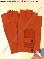 Модель № 348 Перчатки вело / авто из натуральной кожи без подкладки. Кожа производства Италии.
