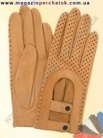 Модель № 356 Перчатки авто из натуральной кожи без подкладки. Кожа производства Италии.