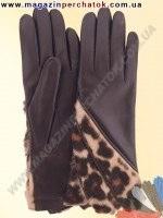 Модель № 347 Перчатки женские из натуральной кожи на шерстяной подкладке. Кожа производства Италии.