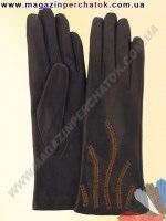 Модель № 368 Перчатки женские из натуральной кожи на шерстяной подкладке. Кожа производства Италии.