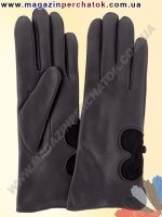 Модель № 371 Перчатки женские длинные из натуральной кожи на шерстяной подкладке. Кожа производства Италии.