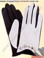 Модель № 355 Перчатки женские из натуральной кожи без подкладки. Кожа производства Италии.