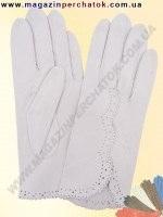Модель № 082 Перчатки женские из натуральной кожи без подкладки. Кожа производства Италии.