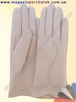 Перчатки женские из натуральной кожи без подкладки. Кожа производства Италии. Модель № 114