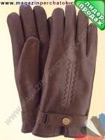 Модель № 272 Перчатки мужские из натуральной кожи на подкладке из натурального меха. Кожа производства Италии.