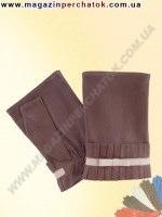 Модель № 383 Перчатки женские из натуральной кожи без подкладки. Кожа производства Италии.