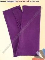 Модель № 381 Перчатки женские без пальцев из натуральной кожи без подкладки. Митенки удлиненные - 23 см. Кожа производства Итали
