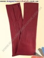 Модель № 382 Перчатки женские без пальцев из натуральной кожи на шелковой подкладке. Митенки удлинные - 31 см.