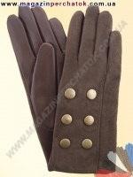 Модель № 393 Перчатки женские из натуральной кожи на шерстяной подкладке. Кожа производства Италии.