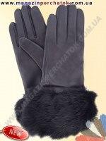 Модель № 146 Перчатки женские из натуральной кожи на шерстяной подкладке. Кожа производства Италии.