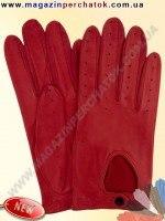 Модель № 274 Перчатки женские для водителей из натуральной кожи без подкладки. Кожа производства Италии.