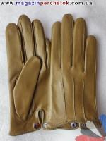 Модель № 394 Перчатки женские из натуральной кожи без подкладки. Кожа производства Италии.