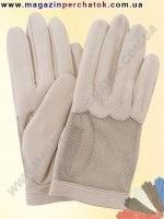 Модель № 398 Перчатки женские из натуральной кожи без подкладки. Кожа производства Италии.