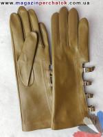 Модель № 153 Перчатки женские из натуральной кожи без подкладки. Кожа производства Италии.