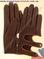 Модель № 405 Перчатки женские из натуральной кожи без подкладки. Кожа производства Италии.