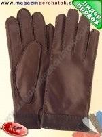 Модель № 417 Перчатки мужские из натуральной кожи на шерстяной подкладке. Кожа производства Италии.
