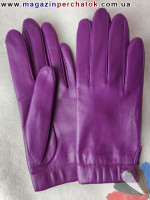 Модель № 421 Перчатки женские из натуральной кожи на шерстяной подкладке. Кожа производства Италии.
