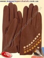 Модель № 436 Перчатки женские из натуральной кожи без подкладки. Кожа производства Италии.