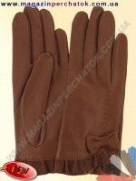 Модель № 437 Перчатки женские из натуральной кожи без подкладки. Кожа производства Италии.