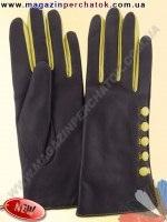 Модель № 447 Перчатки женские из натуральной кожи на шерстяной подкладке. Кожа производства Италии.