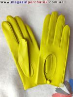 Модель № 200 Exclusive Перчатки женские из натуральной кожи без подкладки. Кожа производства Италии.