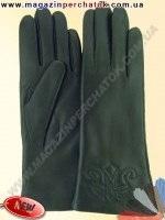 Модель № 454 Перчатки женские из натуральной кожи на шерстяной подкладке. Кожа производства Италии.