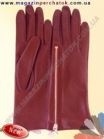 Модель № 473 Перчатки женские из натуральной кожи на шелковой подкладке. Кожа производства Италии.